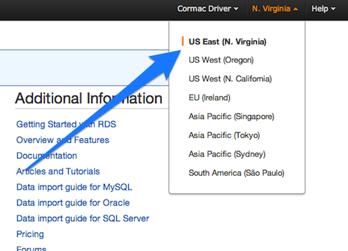 AWS Account Region