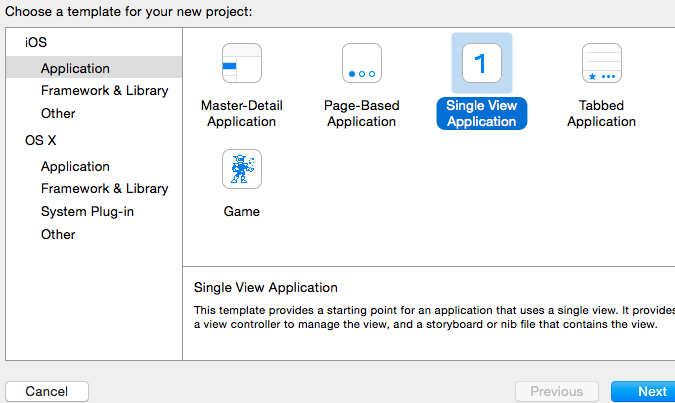 The Single View Application option