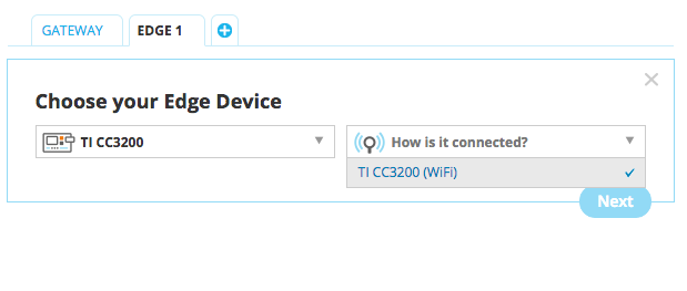 Select a HTTP edge device type and connectivity
