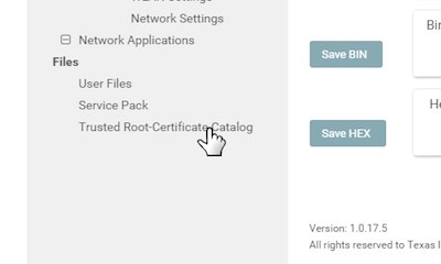 Selecting Trusted Root-Certificate Catalog